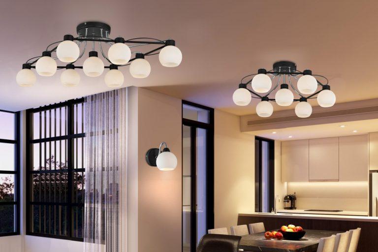 Уникальность интерьера благодаря потолочным светильникам